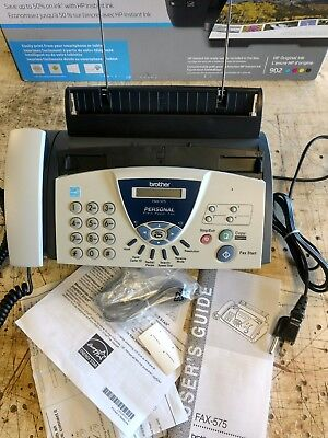 NEW BROTHER FAX-575 Personal Plain Paper Fax, Phone & copier