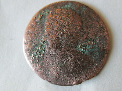 17?? George Ii Halfpenny, Date Not Visible, Farm Dug In Kingston, Ny, Cleaned