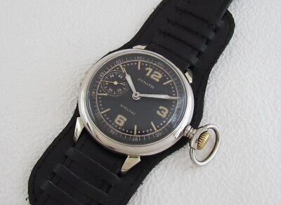 ZENITH Special German Army WWII Antique 1939-1945 Swiss Men's Watch Serviced