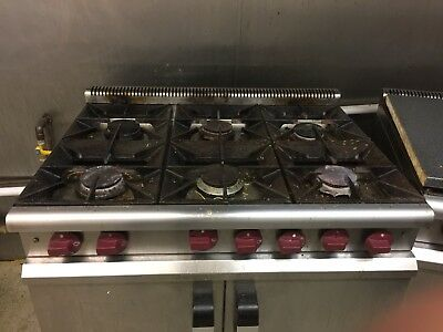 Commercial 6 burner gas cooker oven (Collect In Corby)