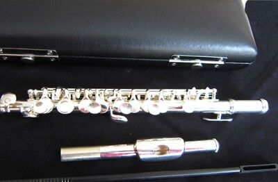 D13 C Key Silver Plated Professional Musical Instrument  Piccolo With Case Bag O