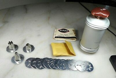 Vintage Mirro Cooky-Pastry Press W/ Recipe Instruction Book.