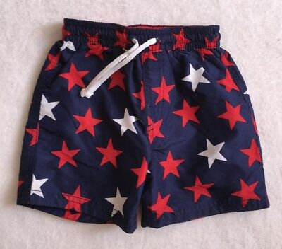 ***H&M baby boys Navy Stars swimming shorts 18-24 months WORN ONCE!***