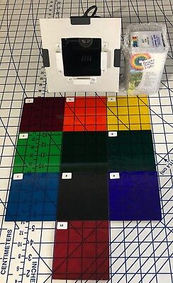 Color Therapy Spectrochrome Glass Filters Chakra Healing Energy Rejuvenation