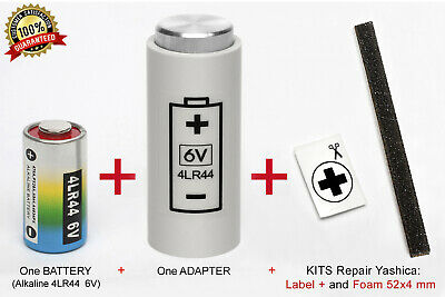 ADAPTOR + BATTERY for YASHICA ELECTRO 35, GL, GSN, GTN, GT, GS, G, AX SLR, MG-1