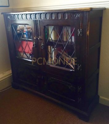 Vintage Antique Bookshelf Cupboard Bookcase - Collection Only