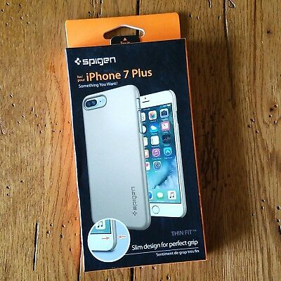 SPIGEN Thin Fit Ultra Slim PC Case Shockproof iPhone 7 Plus CHAMPAGNE GOLD *NEW*