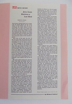 Jerry Lewis Three On A Couch Review LIFE Magazine Reprint 1966 Schickel HTF RARE