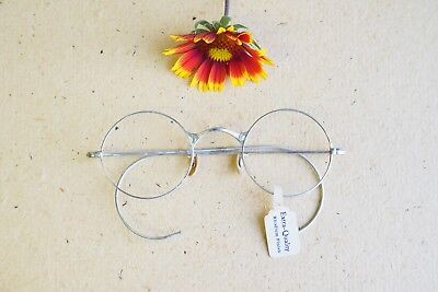 Vintage eyeglasses spectacles 1920s New old stock silver toned rhodium finish 2