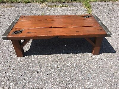 Antique WWII Liberty Ship Hatch Cover Coffee Table