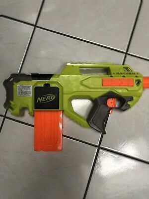 Nerf Rayven CS-18 N-Strike Elite with 12 clip!!! Tested Working