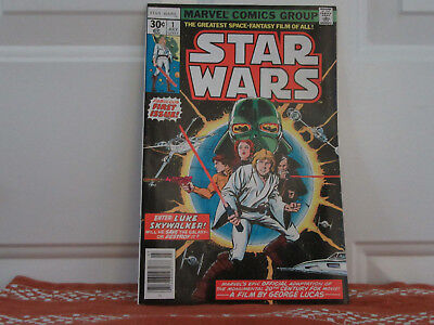 Star Wars #1 - 2 - 3 (1977) - Marvel  used  Plus Invite to Preview in SF 05 1977