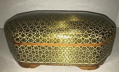 Persian Art Micro Mosaic Khatam Marquetry Large Jewelry Hinged Box