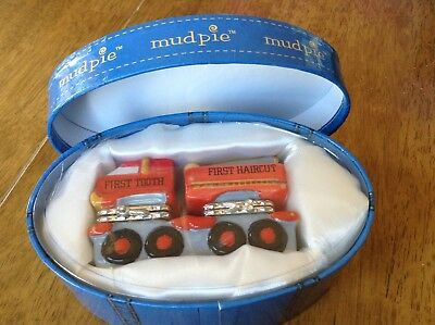 MUD PIE FIRST TOOTH AND HAIRCUT Fire Truck New in box