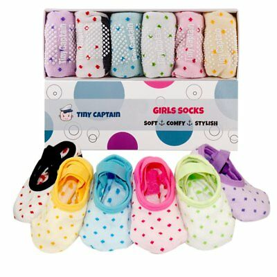 Toddler Girl Baby Socks Gift For 1-3 Year Old Girls, Anti Slip Grip Non Skid