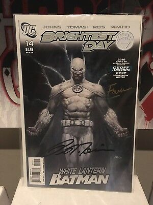 Brightest Day 14 White Lantern Batman Digned By Tomasi And David Finch NM