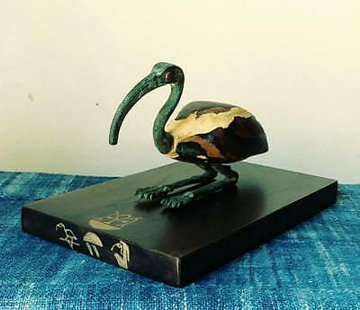 Ancient Egyptian Ibis Bronze Statue, Late Period (660 BC-30 BC)
