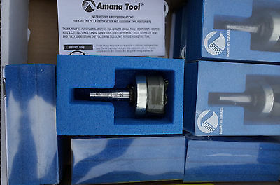 Amana Tool 45567 Carbide Tipped Bottom Cleaning 1-1//2 Dia x 5//8 x 1//2 Shank with Up