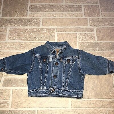 Little Levis Orange Tab VTG 12 Month Toddler Infant Trucker Jacket