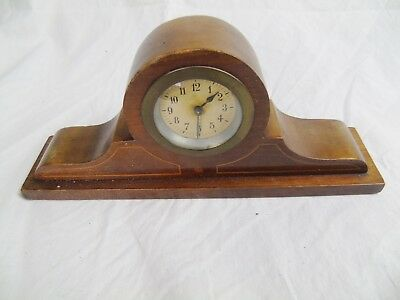 Antique Early Mantel Clock Wooden Wood