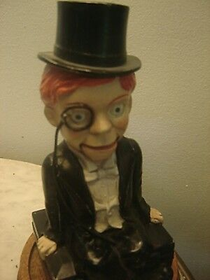 CHARLIE McCARTHY 1930s METAL VENTRILOQUIST BANK-THE BEST ONE YOU WILL FIND EVER!