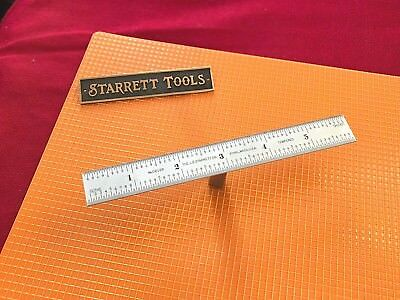 """L.S. STARRETT No.C616R  6"""" Long Spring-Tempered Steel Rule With Inch Graduation."""
