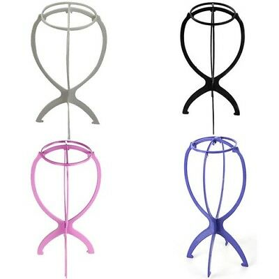 Portable Folding Wig Holder Hair Wigs Hat Display Stand Durable Accessories Tool