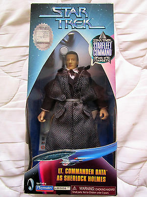 Star Trek 9 inch Lt. Commander Data as Sherlock Holmes Playmates Actionfigur