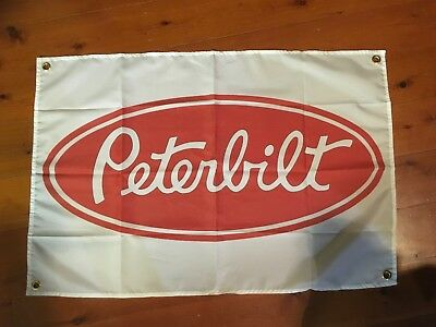 Peterbilt poster trucker  Man cave shed flags pool room sign Australian truck