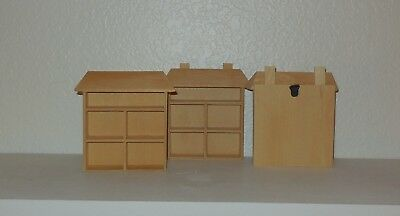 Miniature Shadow Boxes - 3 in Lot - Two with Hangers!