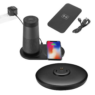 2in1 Speaker+Phone Qi Wireless Charging Dock Charger For B0se Soundlink Revolve+