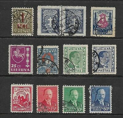 LITHUANIA mixed collection No.2, 1921-1937, incl joined pair, used
