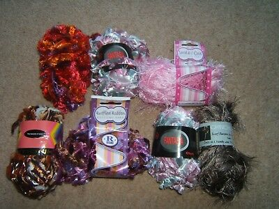 mixed wool different balls all new x7
