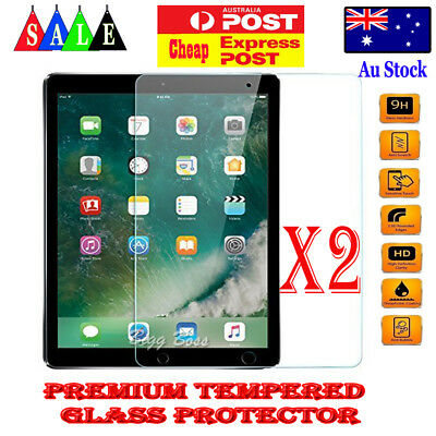 2X Tempered Glass Screen Protector for iPad 6 5 4 3 2 Air Mini Pro 9.7 10.5 12.9