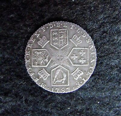 1787 George III Silver Sixpence 6d Coin With Hearts Nice example. FREE UK P&P