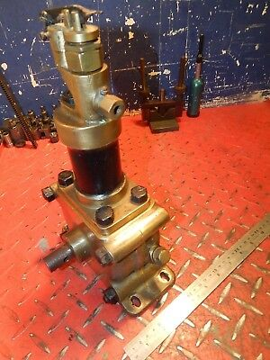 "Vintage French Brass Engine Pump ""torchon & Meunier"" Paris Live Steam Etc"