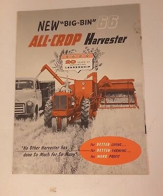 Allis Chalmers BIG BIN Model 66/100 All-Crop Harvester Sales Literature Poster