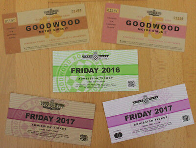 ****Five old Goodwood Festival of Speed & Revival tickets*****