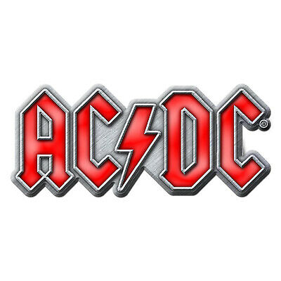 AC/DC Red Logo Metal Pin Button Badge Official Rock Band Merch