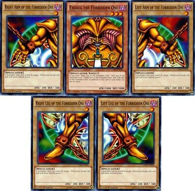 Yugioh  Exodia The Forbidden One Set (5 cards) (LDK2) (Common) Near Mint