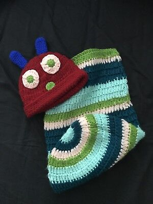 The Very Hungry Caterpillar Newborn Photo Prop, Knitted Outfit Cocoon