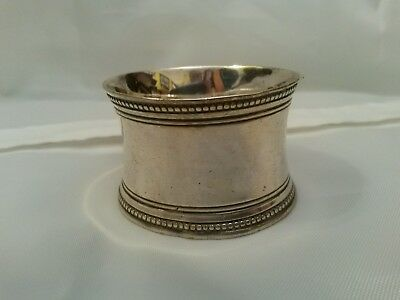Vintage Circular Napkin Ring White Metal Silver Plate ? Has Inital Makings 1G