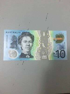 💫Rare Australia 2017 $10 Notes FIRST AA Prefix Ten dollar Note