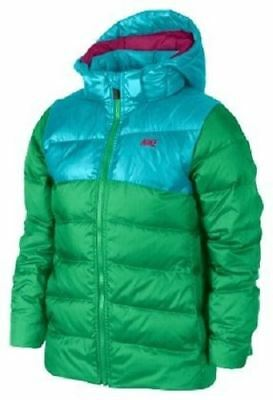 Nike Girls Alliance 550 Hooded Jacket Green/Blue SMALL Age 8-9