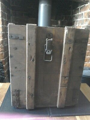 Old Wooden Box Rusty Iron Fittings Rustic Antique Vintage Logs Coal Chest Trunk
