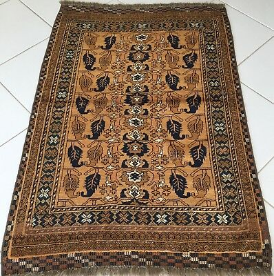 Teppich Alte Gold Andkhoy Afghan Turkmen Handgeknüpfte Orient Rug Tapis Alfombra
