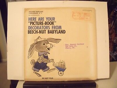 Vintage 1965 Beech-Nut Babyland Picture Book Decals Stickers In Envelope