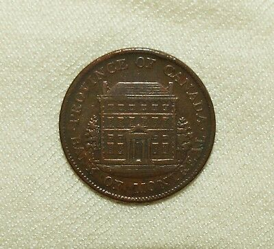 Kanada/Lower Canada Bank Montreal (short nose beaver, small tree), 1844, ½ Penny