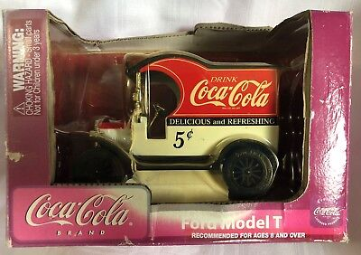 GearBox Replica Of Ford Model T 1912 Coca Cola Delivery Car Die Cast Metal Bank