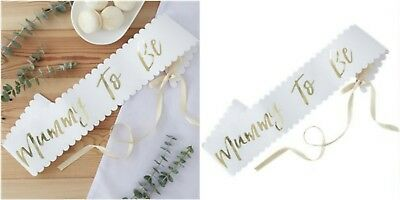 GOLD FOIL MUMMY TO BE SASH - OH BABY ! - Baby Shower Gender Reveal Party